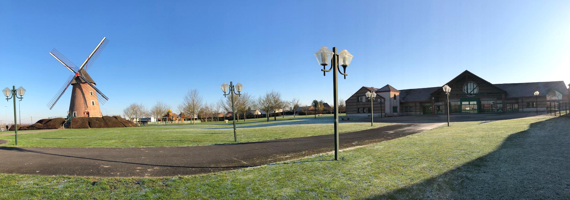 Le parc de la tourelle à Achcicourt en février 2020